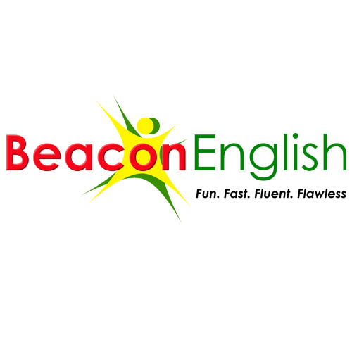 Desain Logo:  Desain Logo Kursus Beacon English