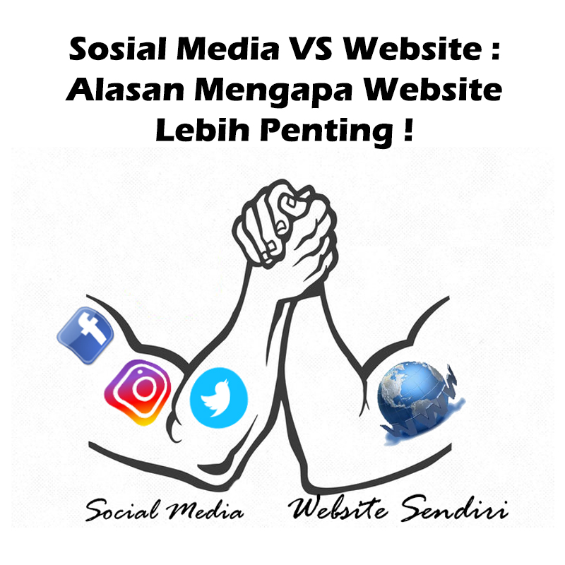 sosial media vs website