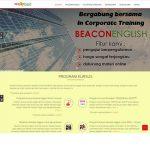 jasa pembuatan website kursus bahasa inggris - beacon english - joelouisrock - com