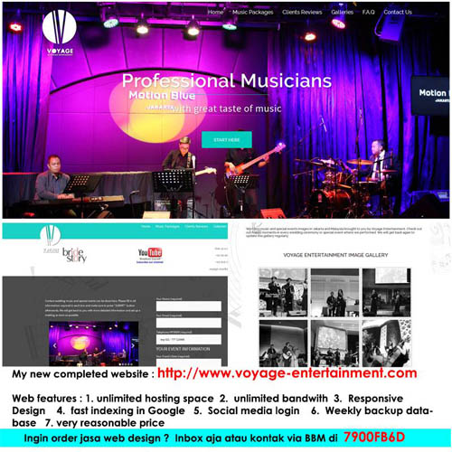 pembuatan website event organizer - voyage entertainment - joelouisrock com