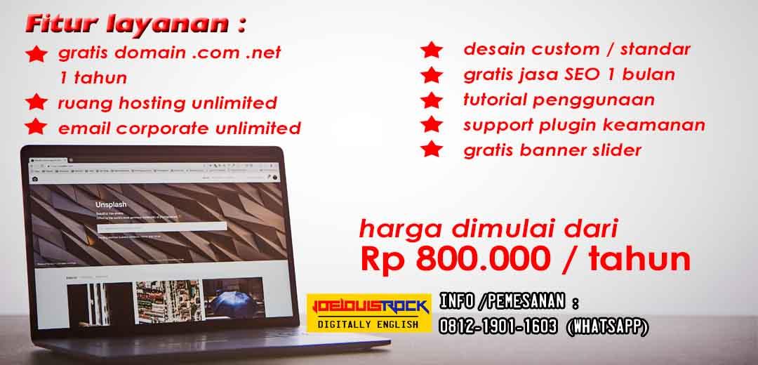 jasa desain website murah depok - joelouisrock -com