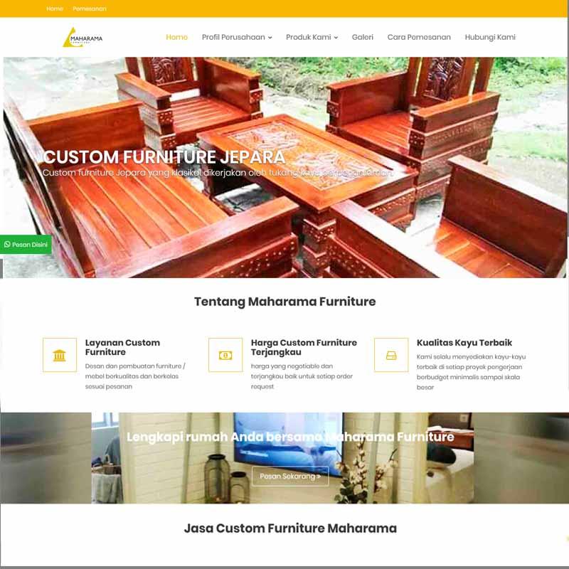 jasa pembuatan website furniture - joelouisrock - com
