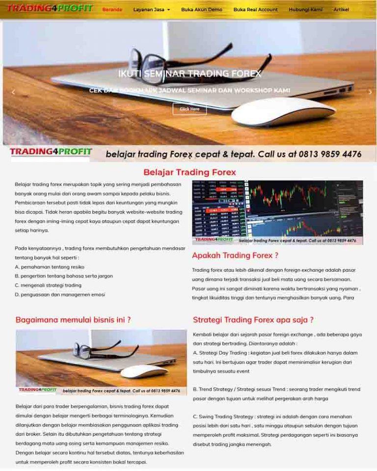 pembuatan website trading forex - joelouisrock - com
