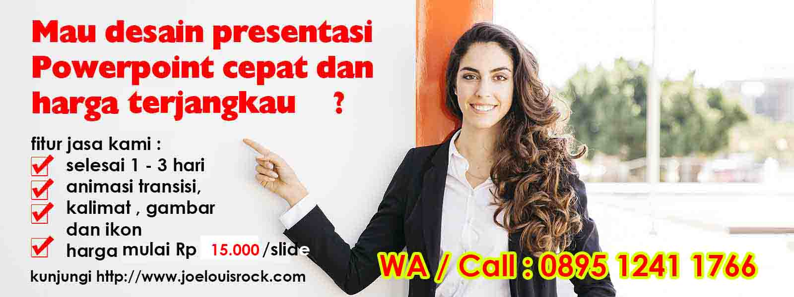 jasa desain powerpoint murah depok - joelouisrock - com