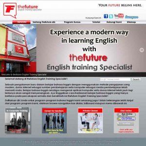 pembuatan website kursus bahasa inggris